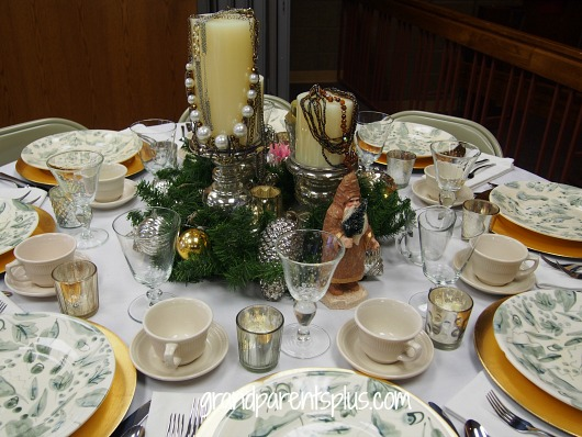 Christmas TAblescape gold silver jewelry Christmas Tablescapes   Part 2