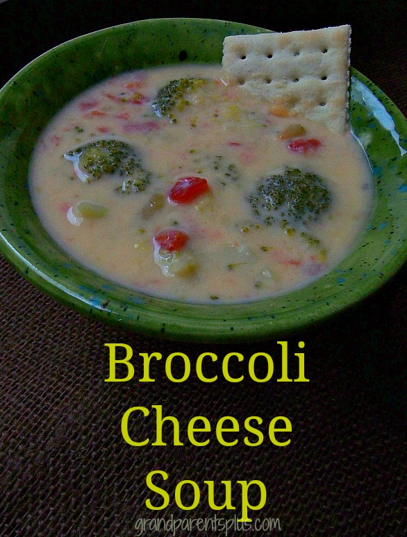 Broccoli Cheese Soup  grandparentsplus.com