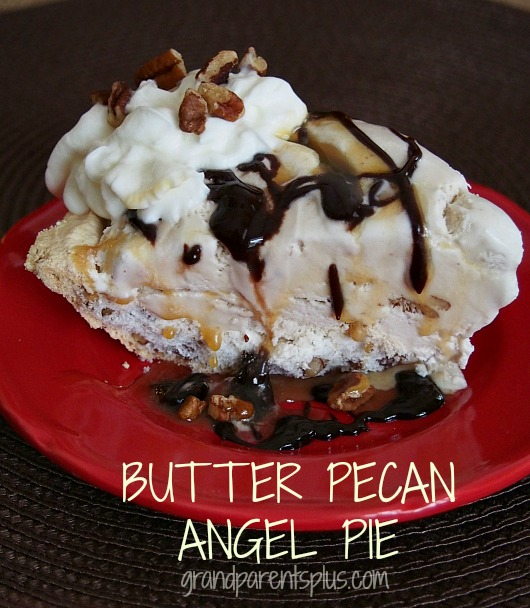 Butter Pecan Angel Pie  grandparentsplus.com