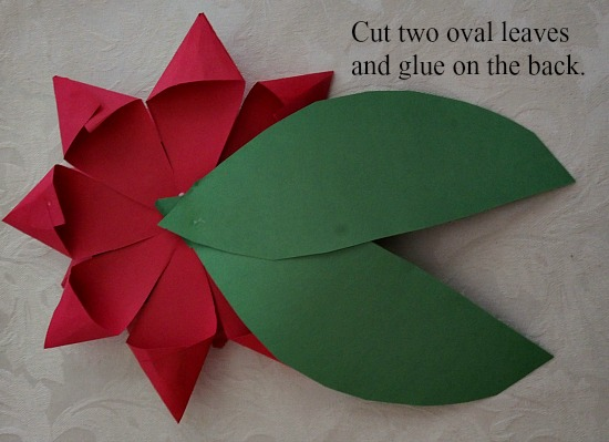 Paper Poinsettia Art Project grandparentsplus.com