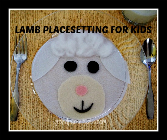 Lamb Placesetting for Kids  grandparentsplus.com