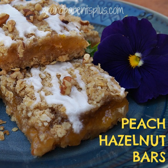Peach Hazelnut Bars   grandparentsplus.com