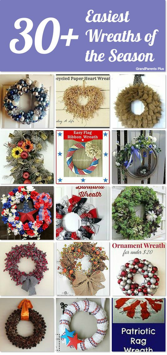 30+ Easiest Wreaths of the Season grandparentsplus.com