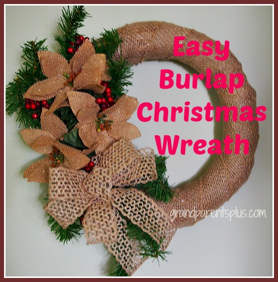 Easy burlap christmas wreath Burlap xmas wreath