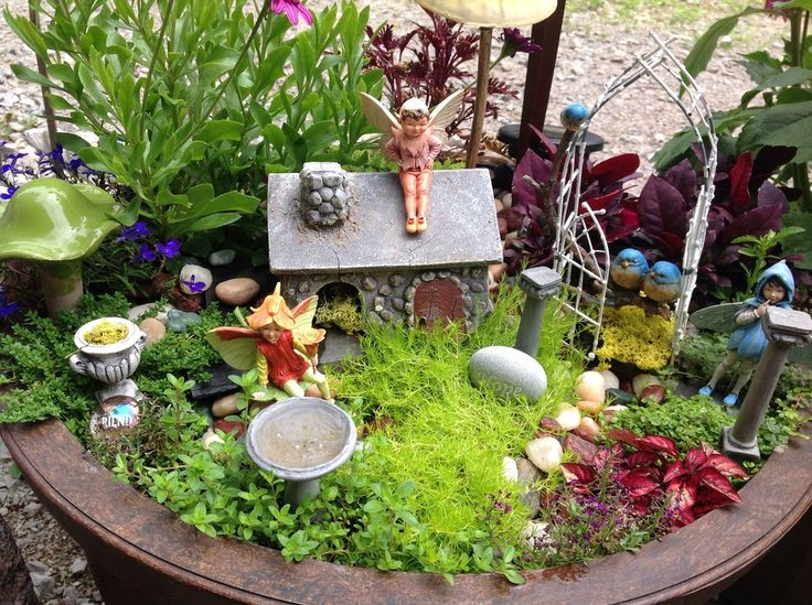 Fairy Garden Inspiration  grandparentsplus.com