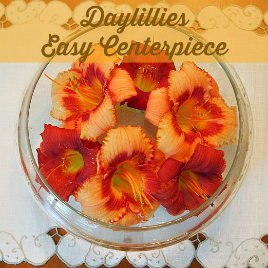 Daylillies - Easy Centerpiece grandparentsplus.com