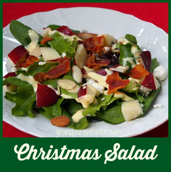 Christmas Salad Recipe grandparentsplus.com