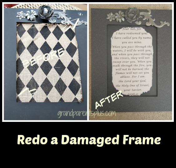 Redo a Damaged Frame grandparentsplus.com