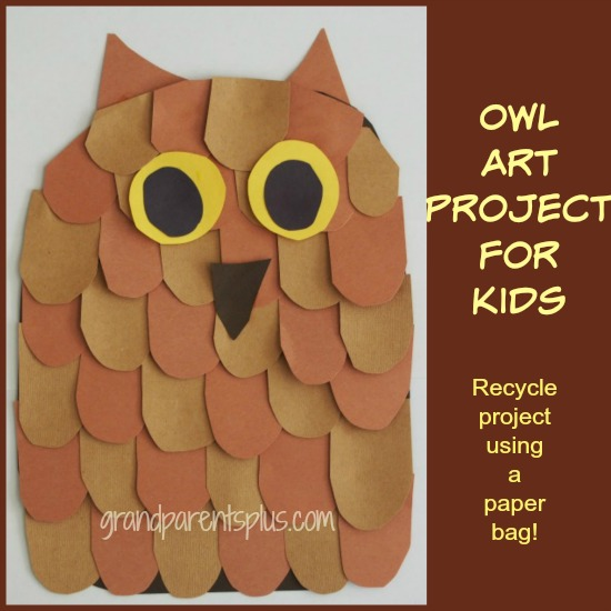 Owl Art Project for Kids grandparentsplus.com