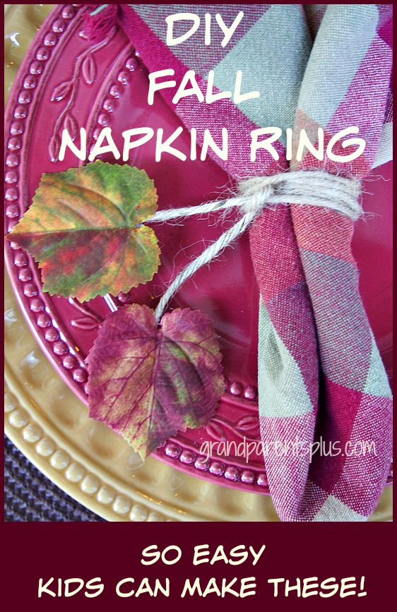 DIY Fall Napkin Rings grandparentsplus.com