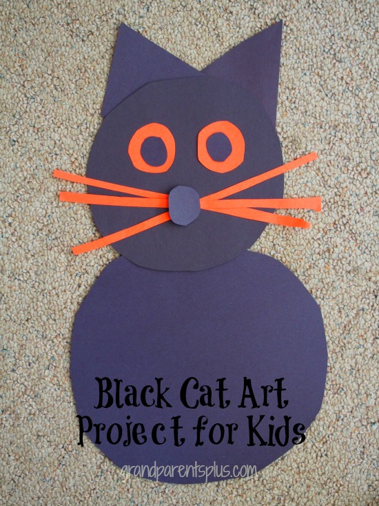 Black Cat Art Project for kids grandparentsplus.com