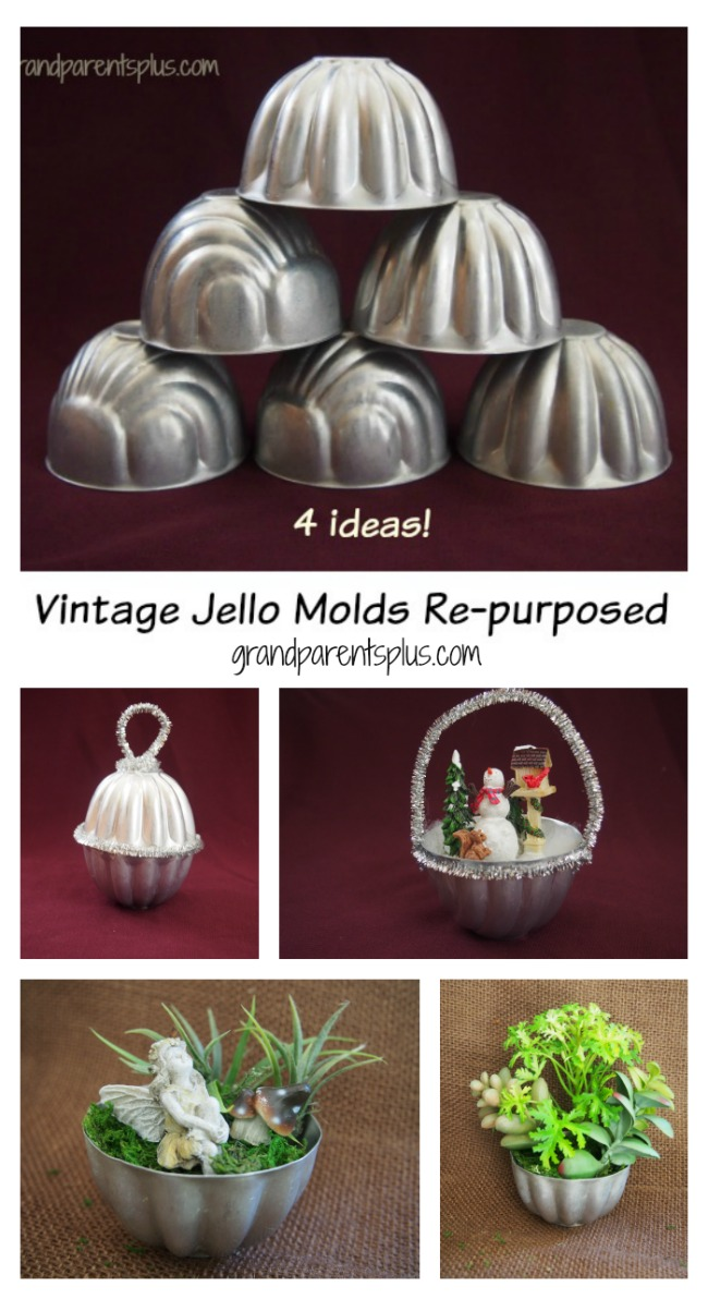 Vintage Jello Molds Re-purposed grandparentsplus.com