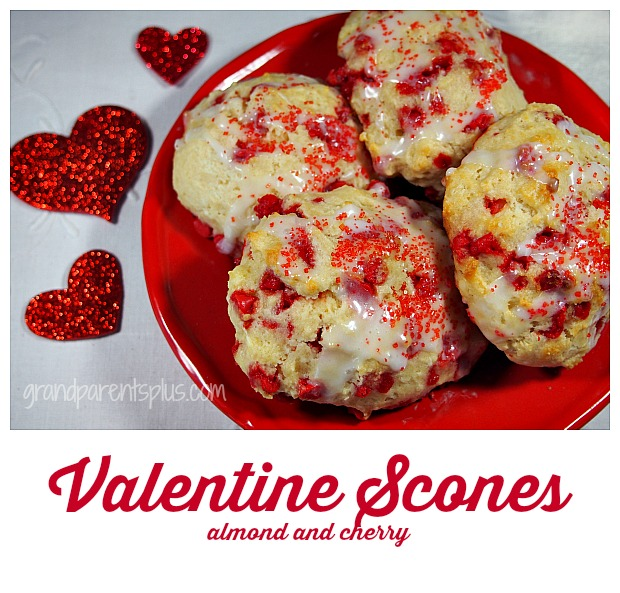 Valentine Scones (quick and easy) grandparentsplus.com