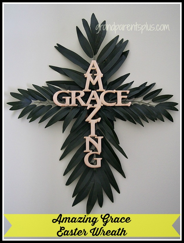 Amazing Grace Easter Wreath grandparentsplus.com