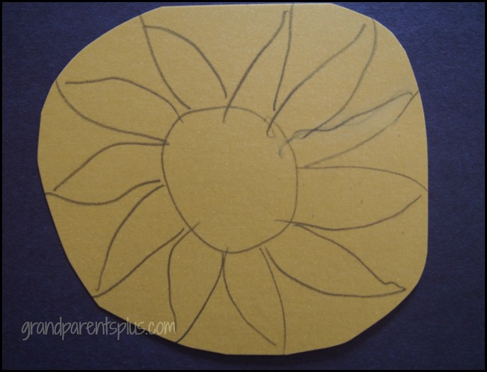 Sunflower Art Project for Kids grandparentsplus.com