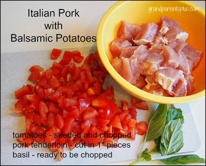 Italian Pork with Balsamic Potatoes grandparentsplus.com