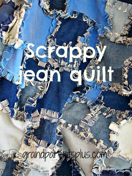 Scrappy Jean Quilt   grandparentsplus.com