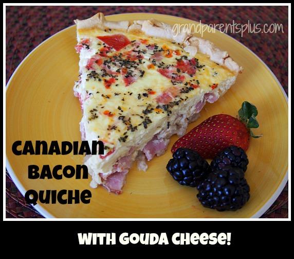 Canadian Bacon Quiche grandparentsplus.com